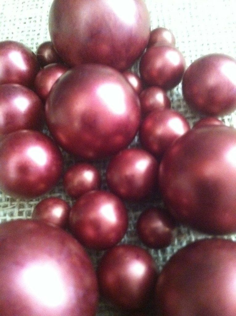 Burgundy Pearls For Floating Pearl Centerpieces Jumbo Pearls Vase