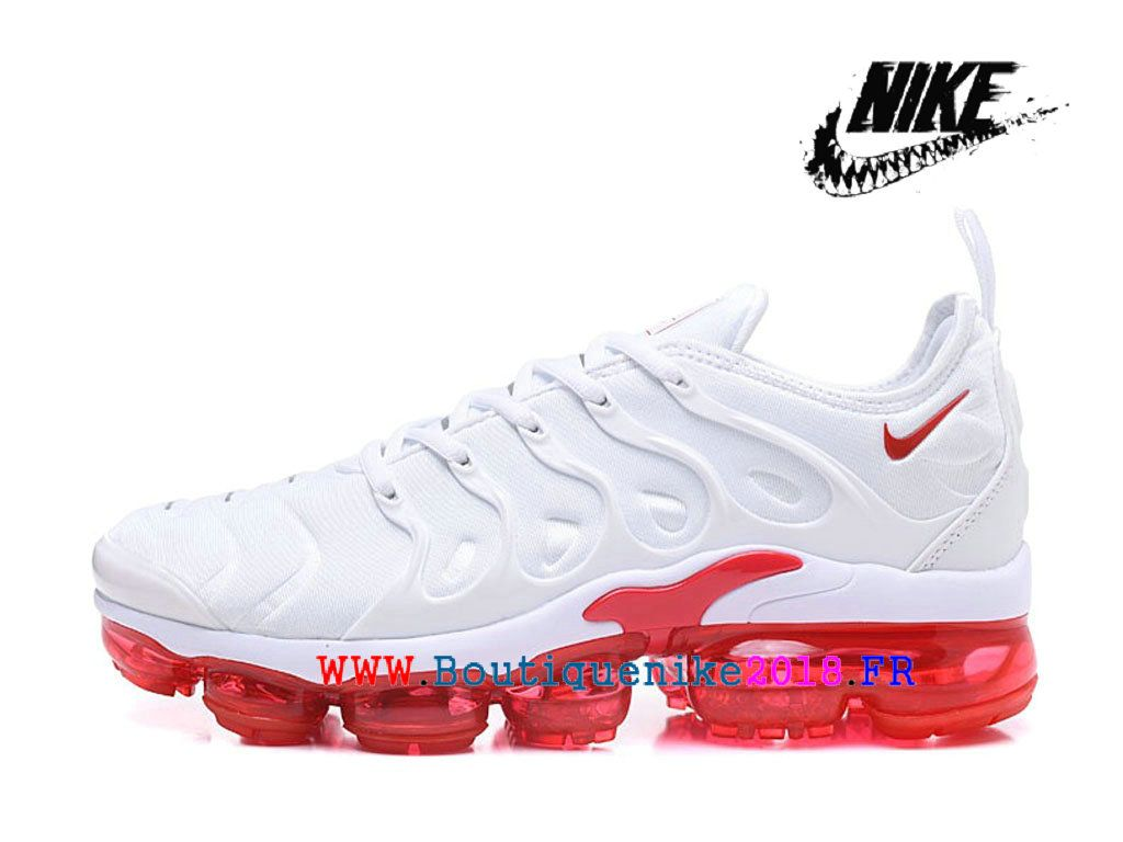 2c1d95fa75 Nike Air VaporMax Plus AO4550-ID9 Chaussures Nike TN 2018 Pas Cher Pour  Homme Blanc Rouge
