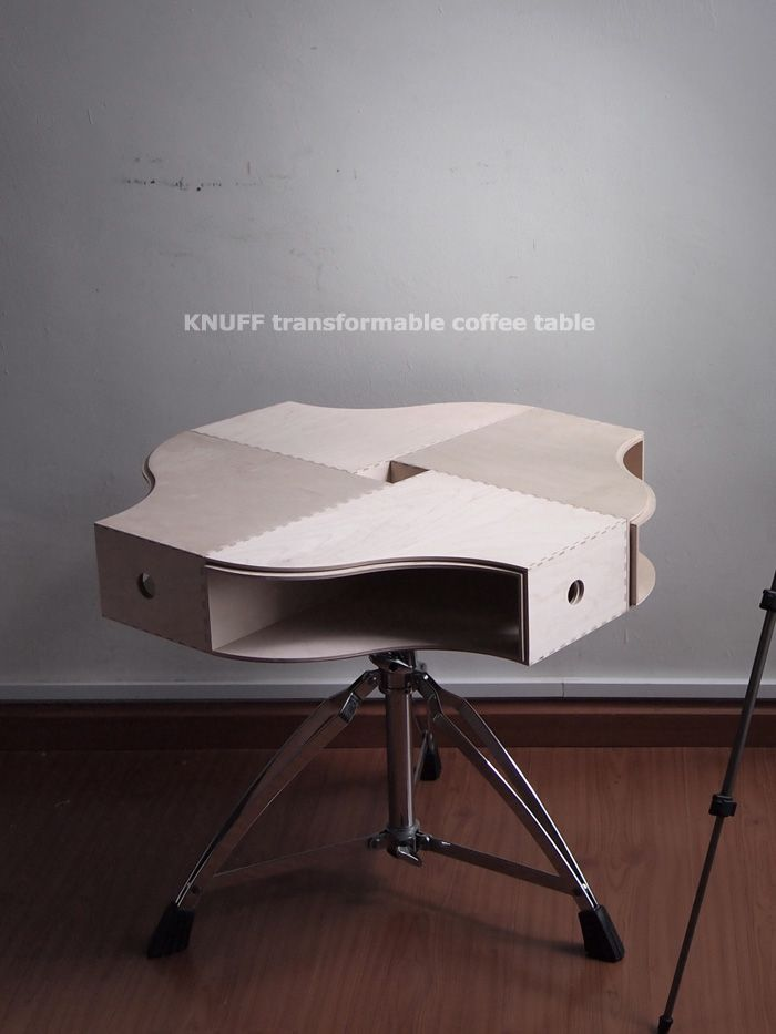 Transformable Coffee Table #IKEAHACK http://www.handimania.com ...