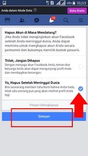 Cara Menghapus Akun Facebook Dimasa Mendatang Akun Akan Secara