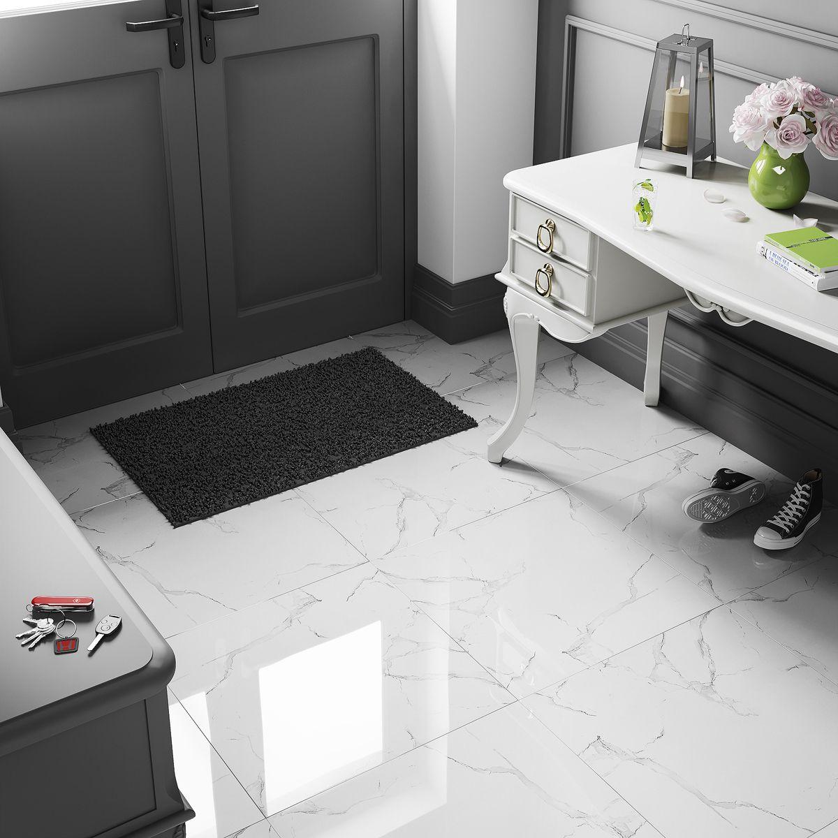 White Marble High Gloss size 60x60cm Top Ceramics