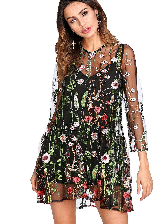 4b62ecbb1cf Floral Embroidered Dress Amazon - Gomes Weine AG