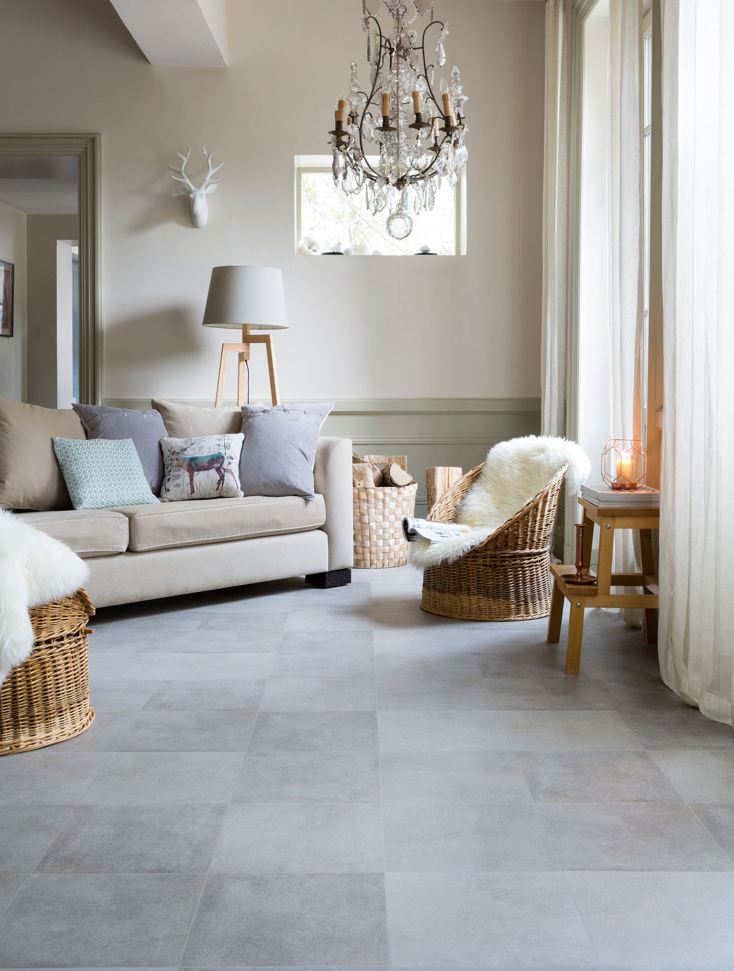Tivoli Light Grey Texline by Gerflor Luxury vinyl tile