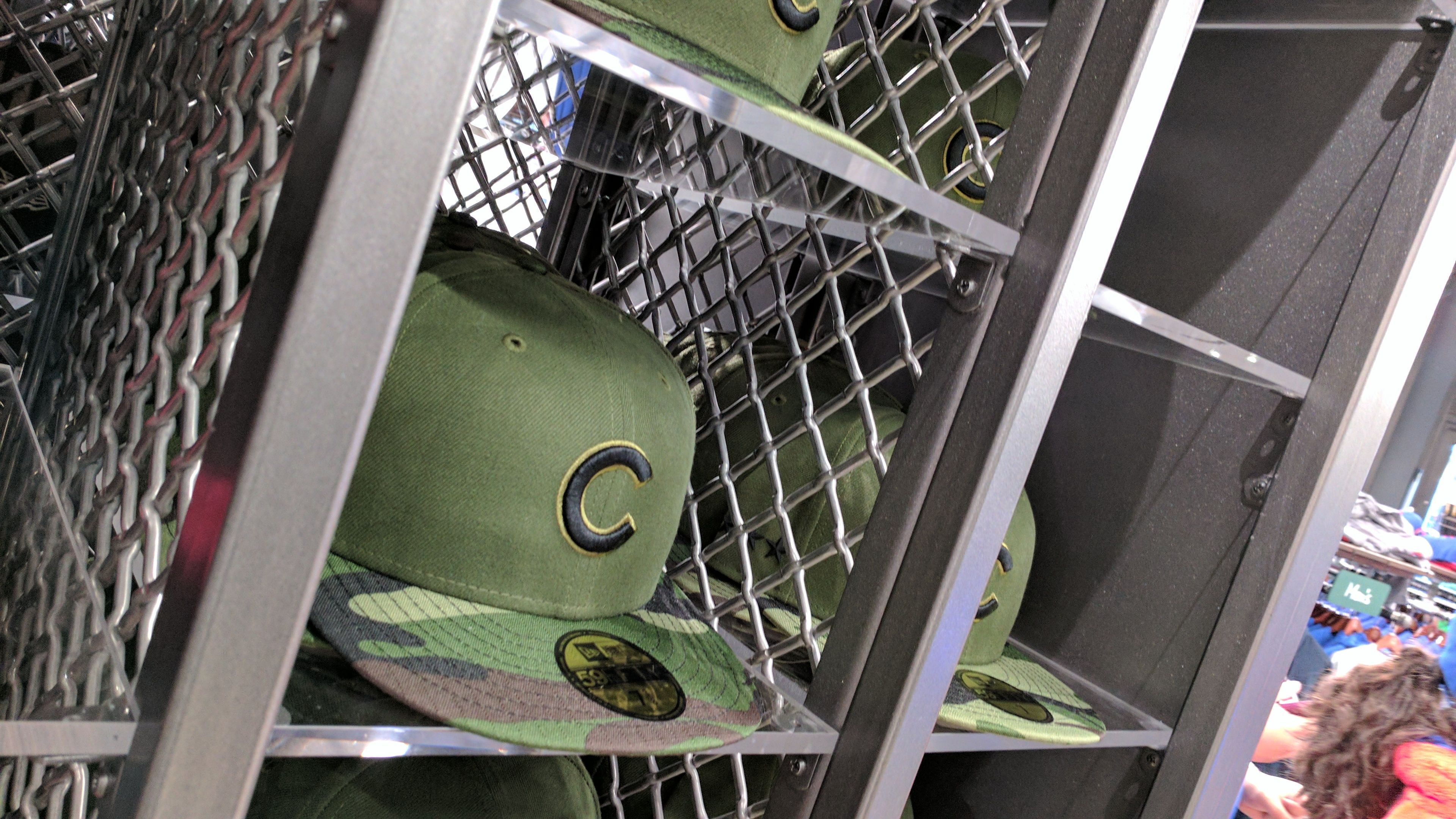 McNICHOLS® Wire Mesh panels form a display case for baseball hats at ...