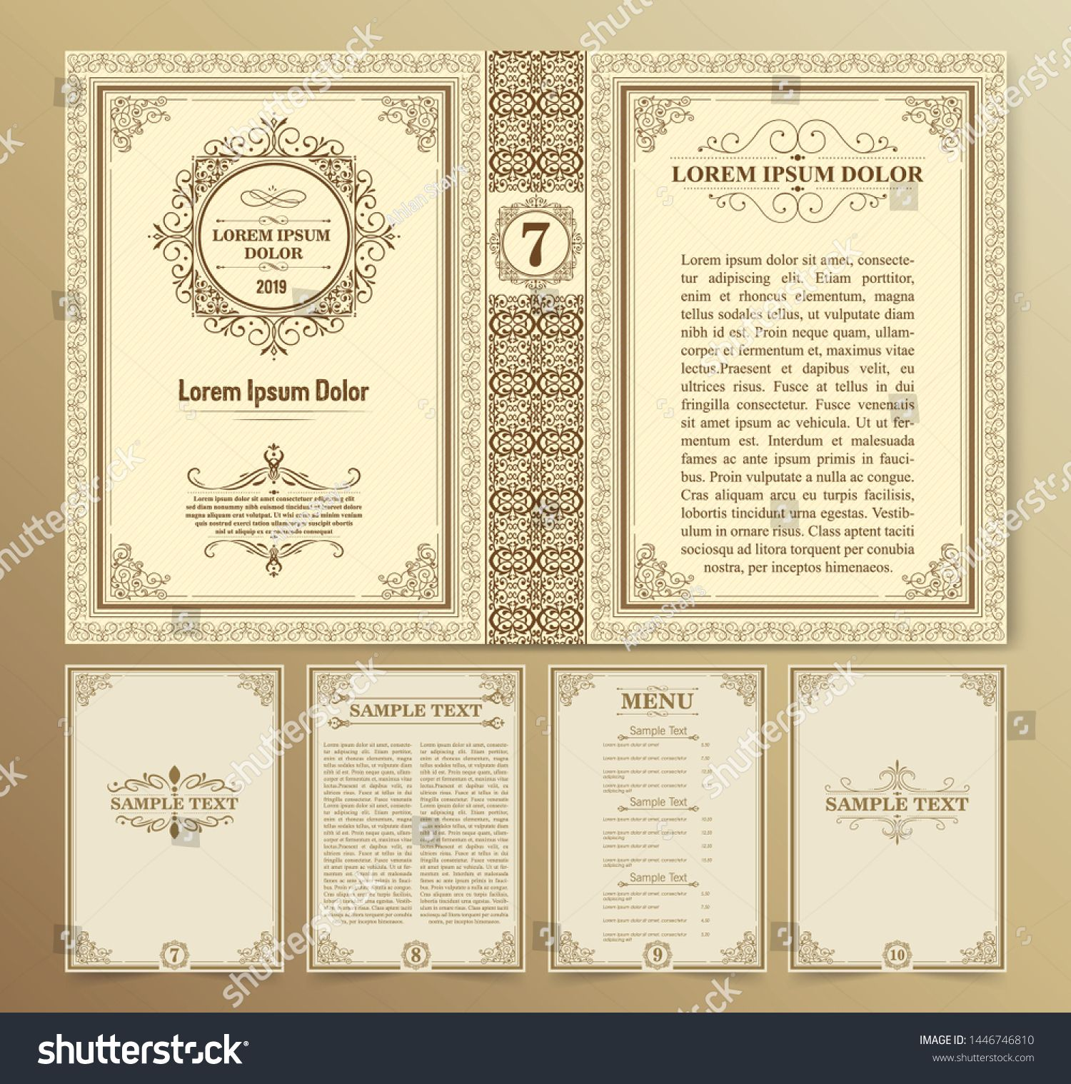 Vintage Book Layouts And Design Covers And Pages Classical Rich Frames Dividers Corners Borders Luxury Ornam Book Design Layout Book Layout Cover Design