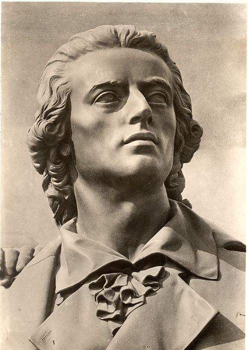 friedrich schiller. i've seen this statue in weimar. love