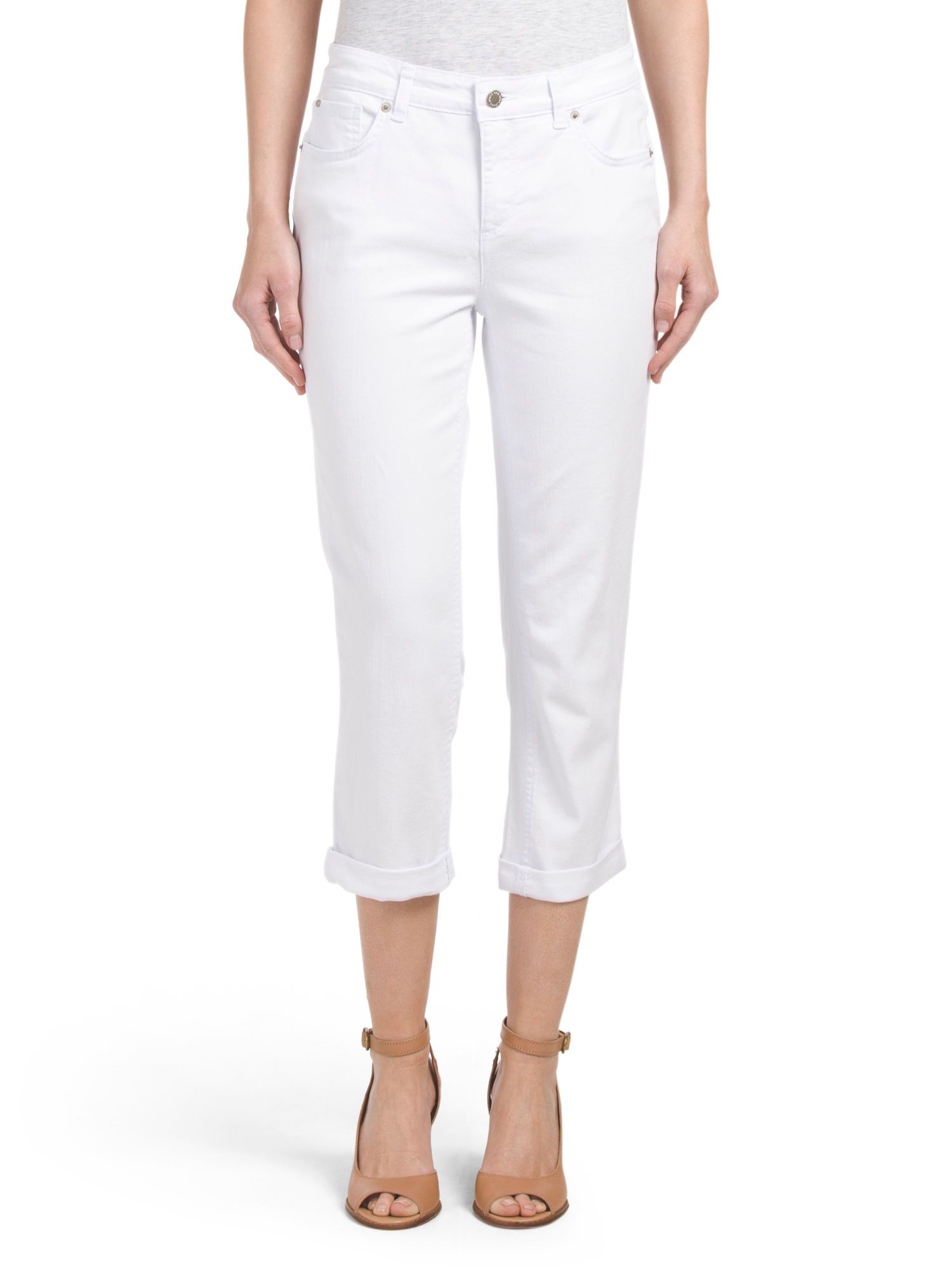 ea4f6bbc13610 Own it  Jones New York Lexington Cuffed Capri in White