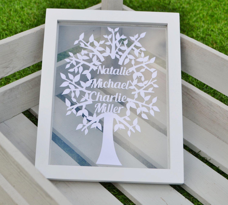 Papercut Family Tree Template Design To Cut Yourself Ebanisteria