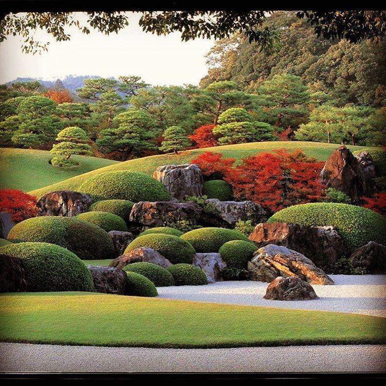 Formal rock garden backyard garden formal landscaping for Formal japanese garden