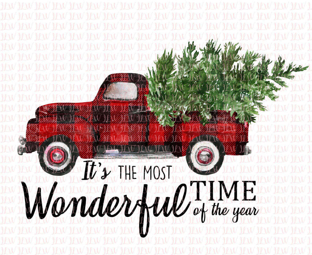 It S The Most Wonderful Etsy In 2020 Christmas Truck Red Christmas Tree Plaid Christmas