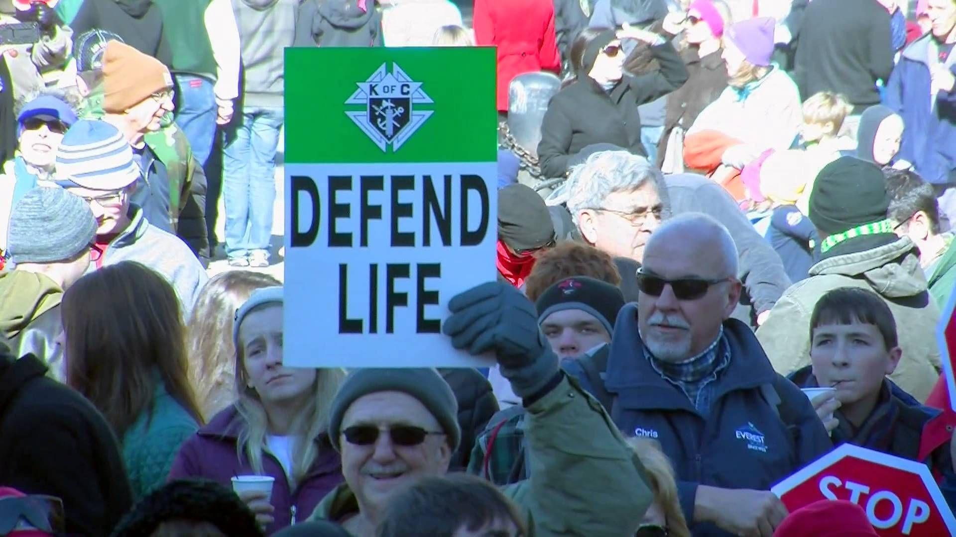 Abortion survivor rallies crowd