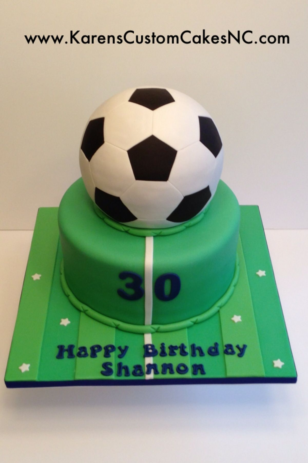 3D Soccer Ball cake All fondant Original design by The Royal