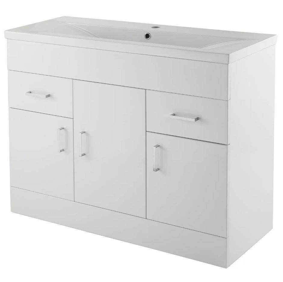 Eden 1000mm Floor Standing 3 Door Unit Vanity Units Bathroom Vanity Units Basin Vanity Unit