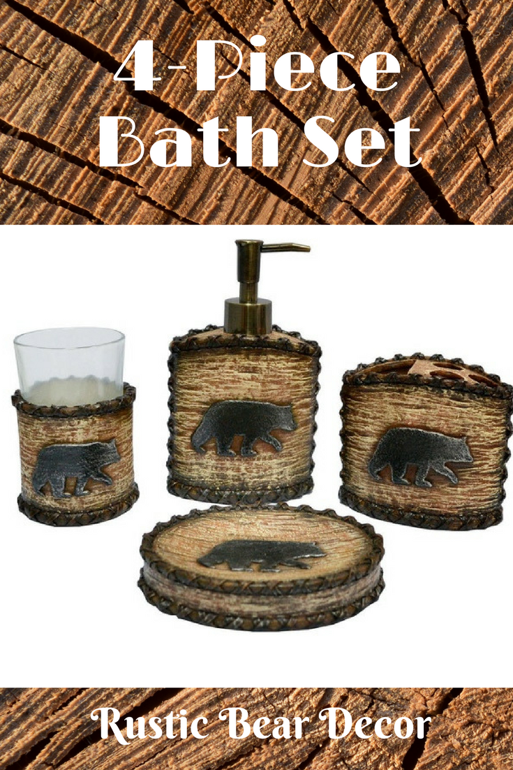 Perfect Bath Accessory Set For Our Log Home Bathroom Hiend