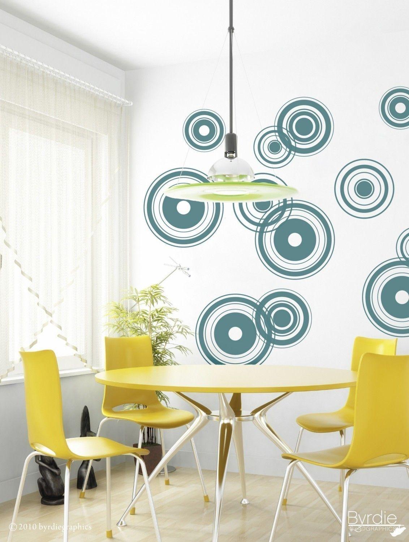Vinyl Wall Decal, Retro Bullseyes - 12 graphics, Wallpaper, Stickers, item 10001. $42.00, via Etsy.