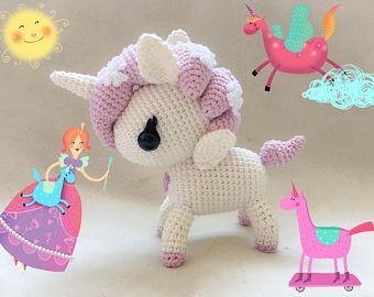 Amigurumi Unicorn : Tokidoki unicorno hanako pony unicorn amigurumi toy