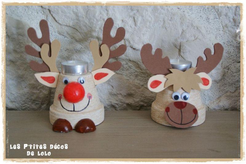 DIY Noël : deux versions de bougeoirs rennes ... avec les gabarits !!!
