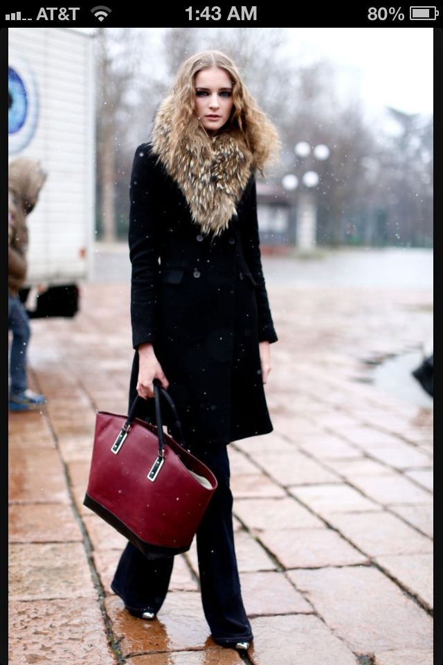 A great coat look.