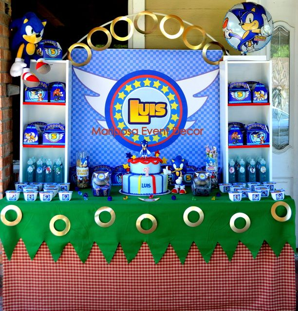 Sonic The Hedgehog Birthday Party Ideas Sonic Birthday Parties Hedgehog Birthday Sonic Birthday