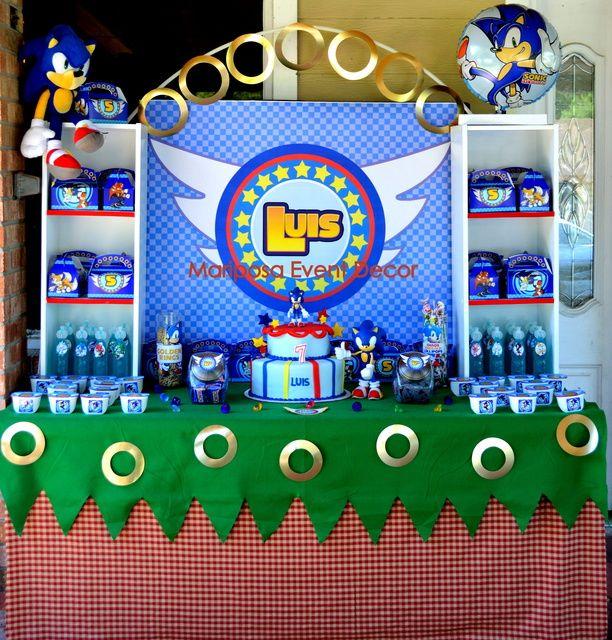 Sonic The Hedgehog Birthday Party Ideas Sonic Birthday Parties Hedgehog Birthday Sonic Birthday