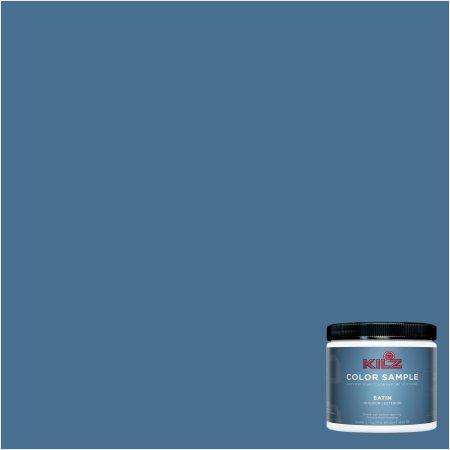 Kilz Interior/Exterior Paint 8 oz. Color Sample, #RC290-01 Atlantic Sea, Blue