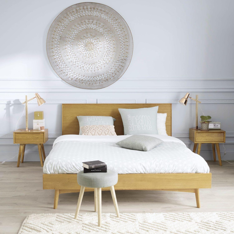 Vintage Bett Aus Eiche 140x190 Oak