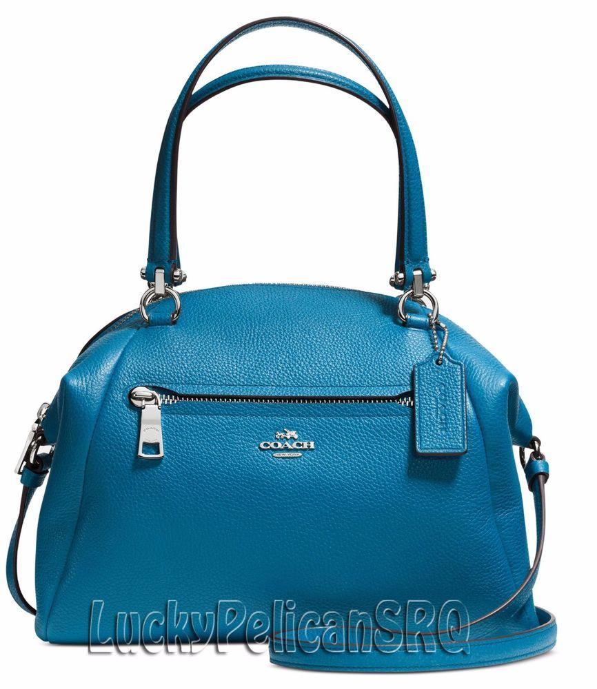 coach satchel bag outlet uun8  COACH 34340 PRAIRIE SATCHEL BAG LEATHER SILVER/PEACOCK BLUE NWT #Coach # Satchel