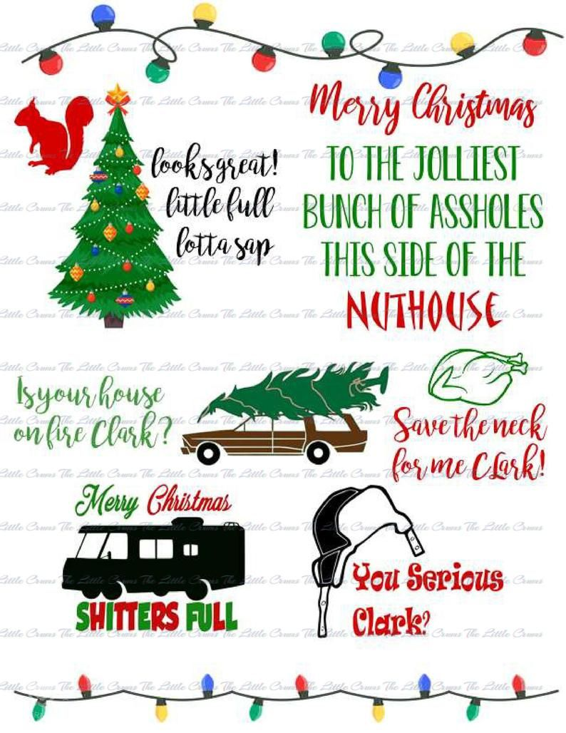 Christmas Vacation Printable Vector SVG DXF EPS Bundle for