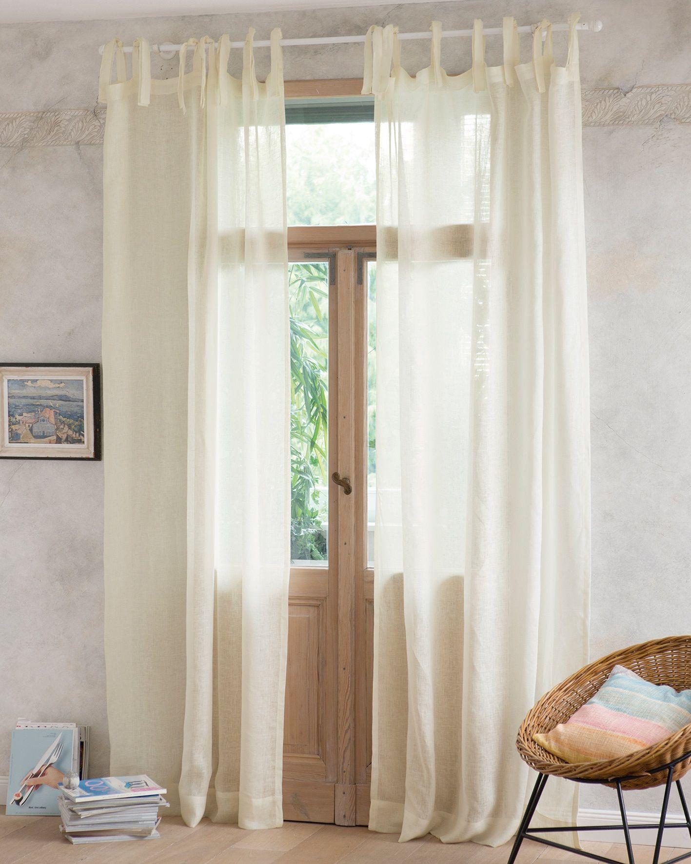 Leinenvorhang Antikweiss Leinenvorhang Vorhange Wohnzimmer