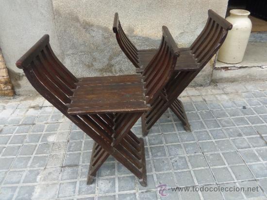 Lote de 2 sillas de madera antiguas muy decorativas - Sillas antiguas de madera ...
