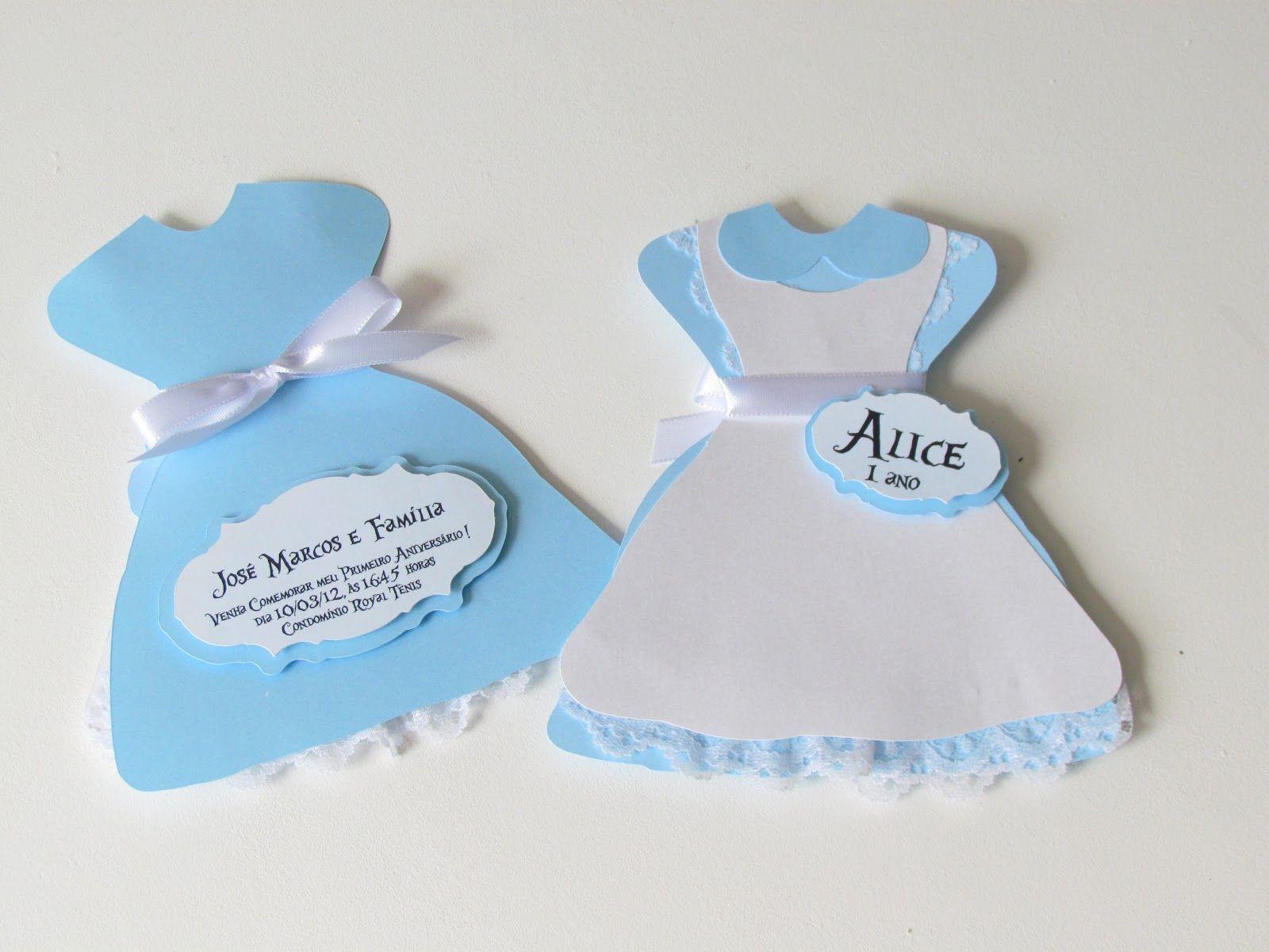 Convite Vestido Alice Alice No Pais Das Maravilhas Alice Festa