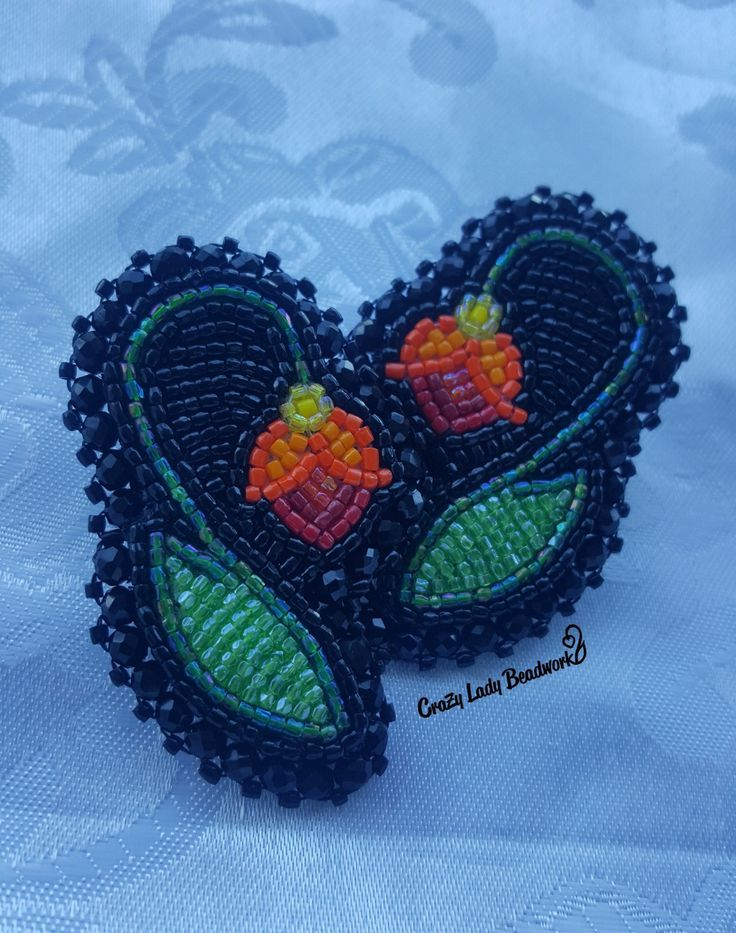 Made by Ruby Asiniikwe Owner of Crazy Lady Beadwork Instagram crazyladyasin