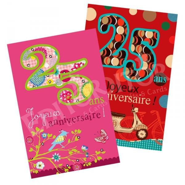Carte D Anniversaire Pour Ma Fille De 25 Ans New Carte Joyeux Anniversaire 25 Ans Cadeau Maestro