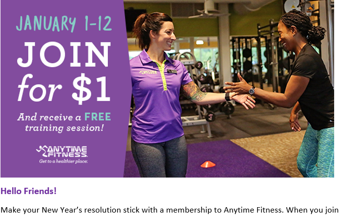 Campaigns Anytime Fitness Dashboard Anytime Fitness Free Training Fitness