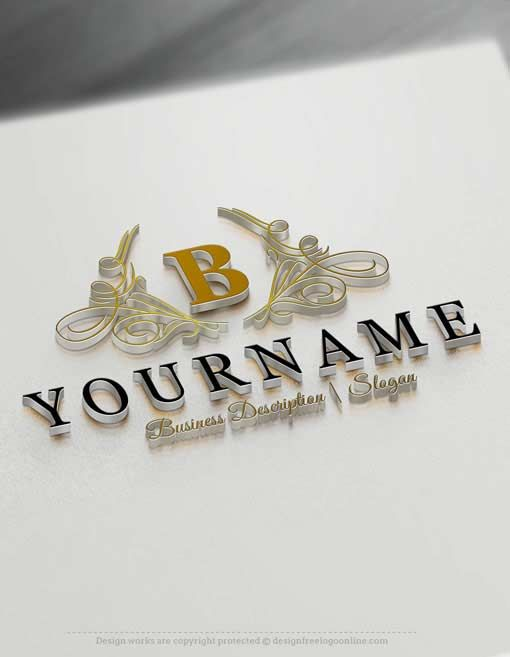 Design free logo online initials luxury logo template for Luxury design consultancy