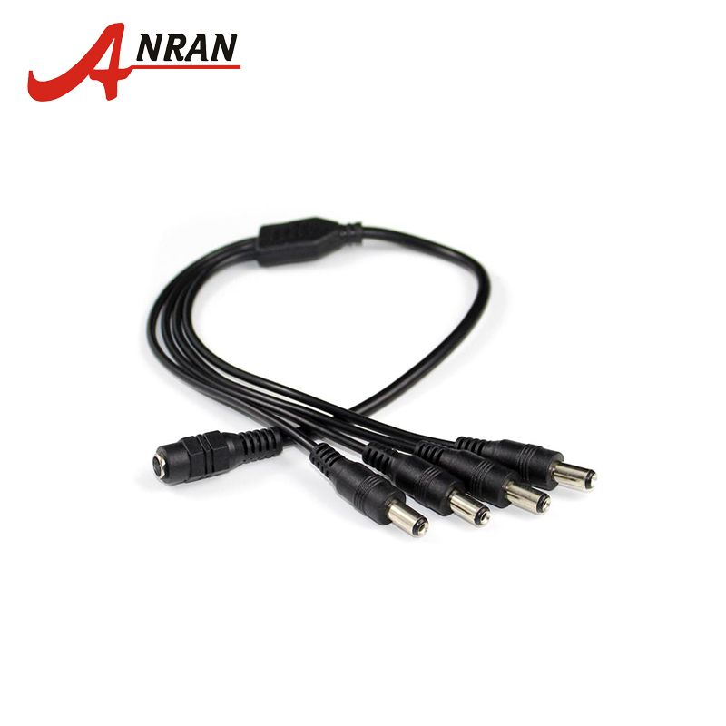 CCTV Security Camera 2.1mm 1 to 8 Port Power Splitter Cable Cord Pigtails 12V DC