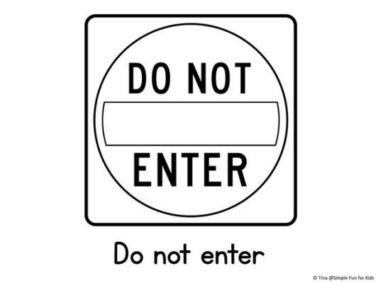 Traffic Signs Coloring Pages - | Kids corner | Coloring ...