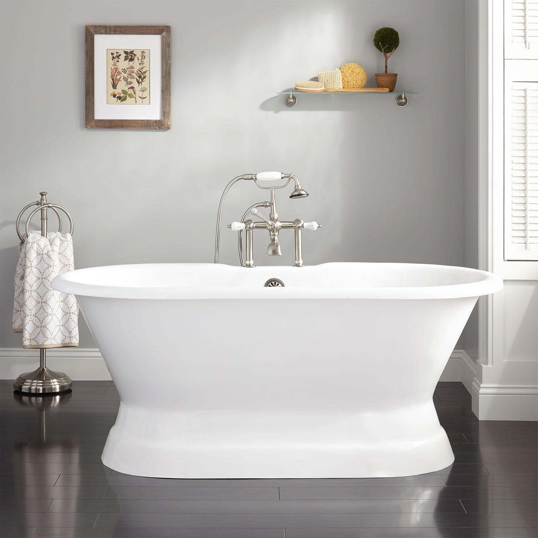 Henley Cast Iron Double-Ended Pedestal Tub | Pedestal tub, Pedestal ...