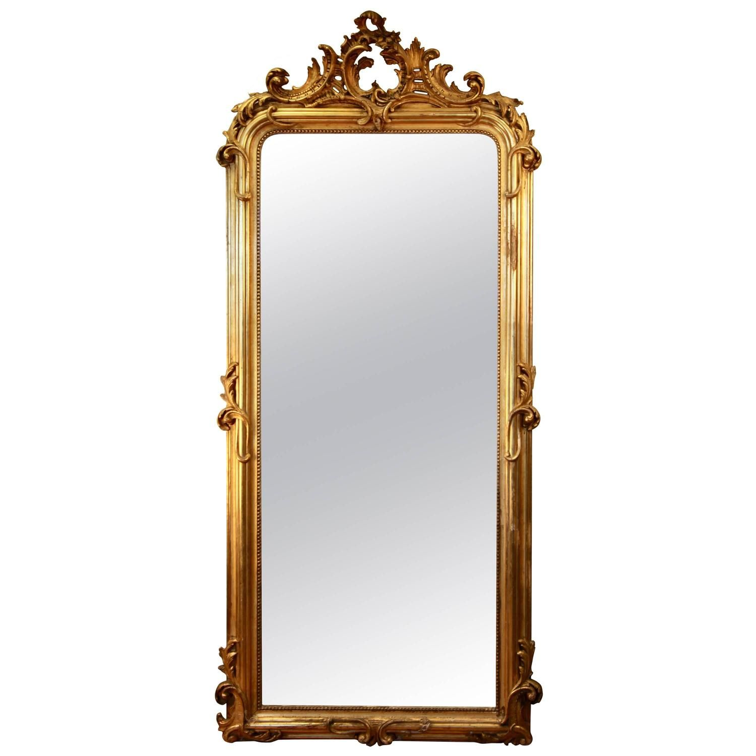 19th century gilded mirror see more antique and modern