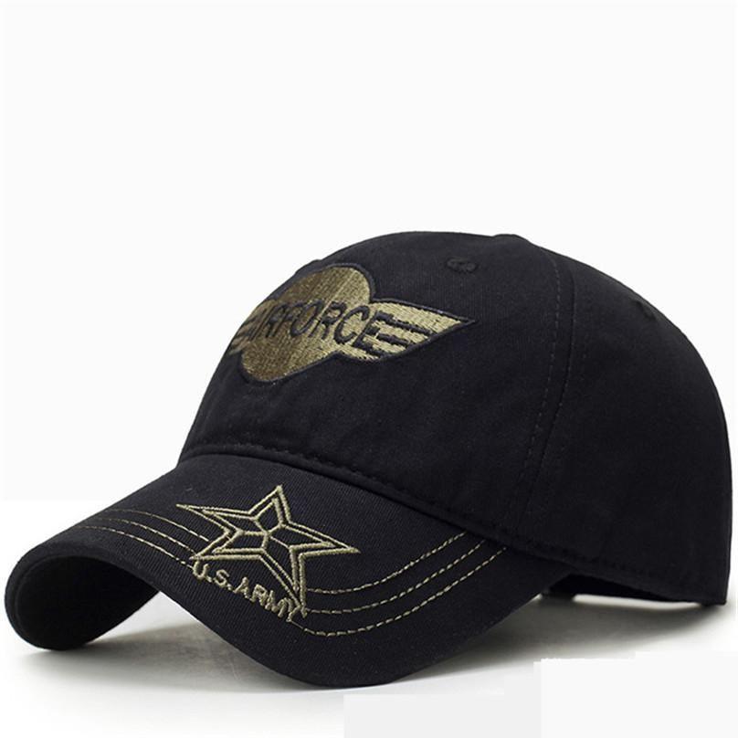 960f2e4e0f686 Hot sale Army Hat Caps AIRFORCE Military Caps Men star Camouflag Cap USA  U.S Air Force