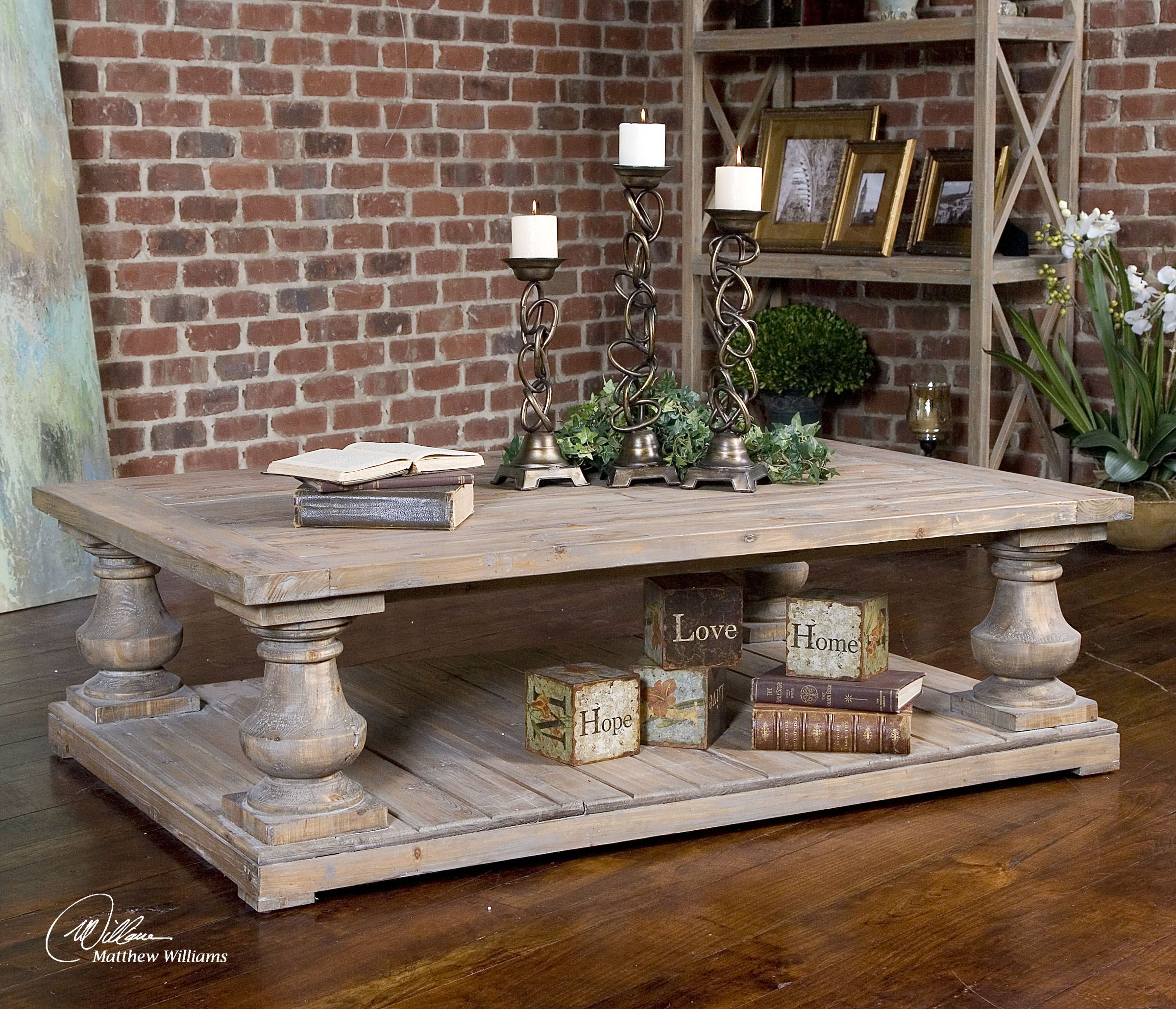 Final Selection Coffee table Uttermost Stratford Rustic Cocktail