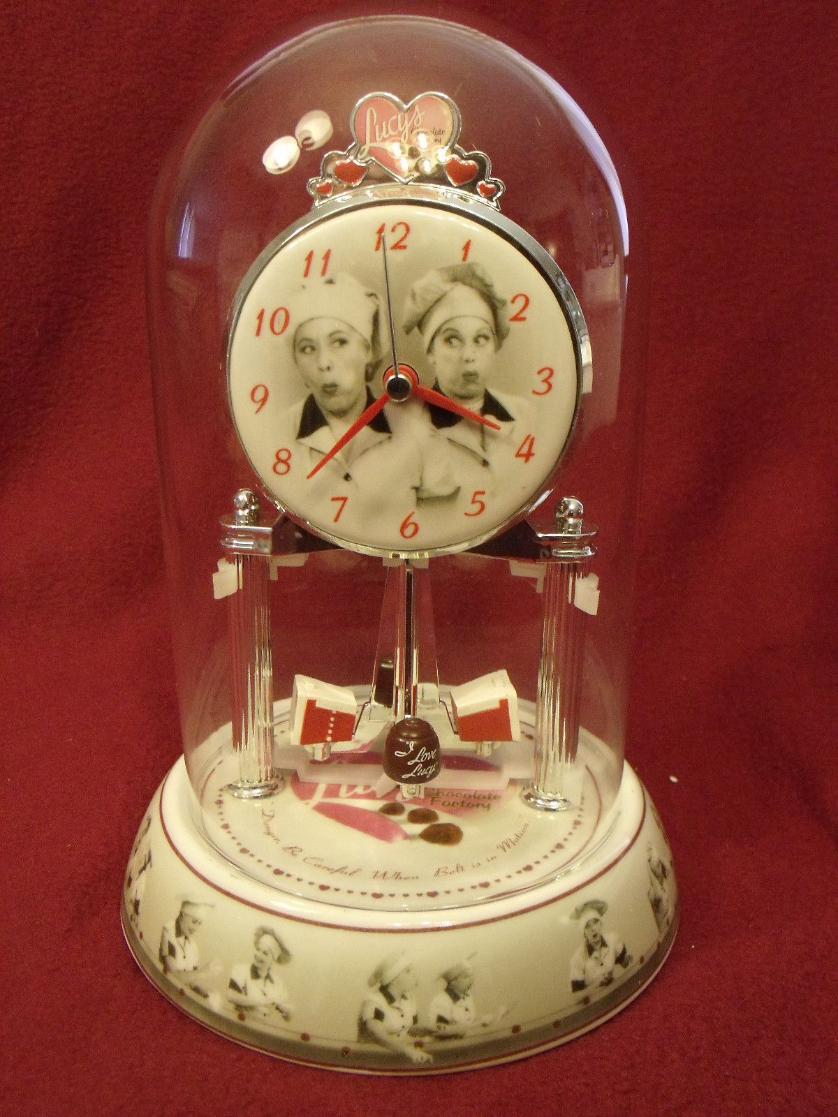 I LOVE LUCY CHOCOLATE FACTORY PORCELAIN DOME SHELF ANNIVERSARY ...