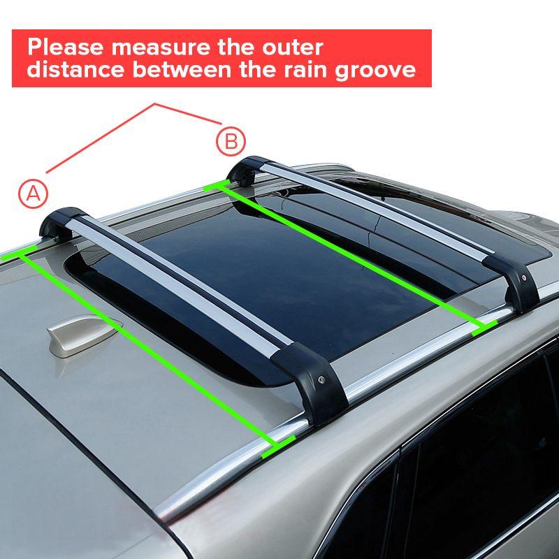 2pcs Universal Adjustable Car Roof Rack Cross Bar Crossbars Cargo Luggage Carrier Roof Racks Crossbars For Most Car Luggage Carrier Car Roof Racks Roof Rack