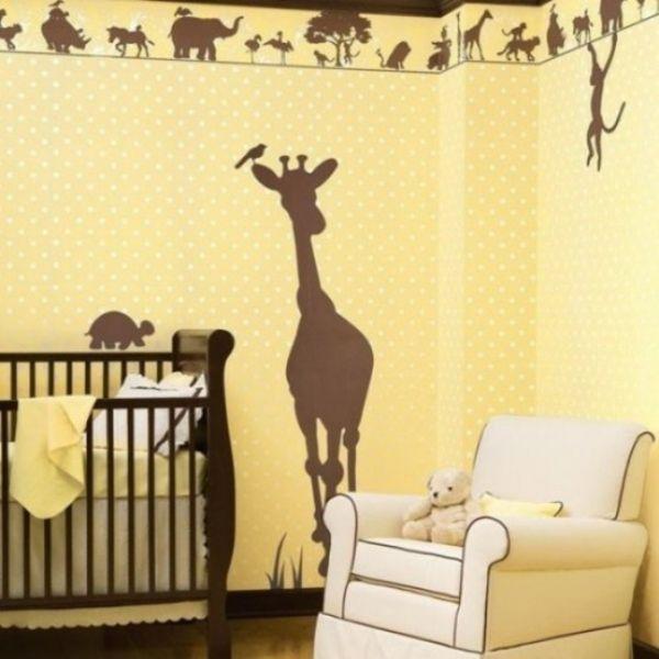 lustige dschungel dekoration im kinderzimmer 15 schne beispiele deko babyzimmer gelb braun