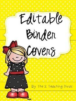 Editable Binder Covers By The 2 Teaching Divas Editable Binder Covers Binder Covers Binder Covers Printable