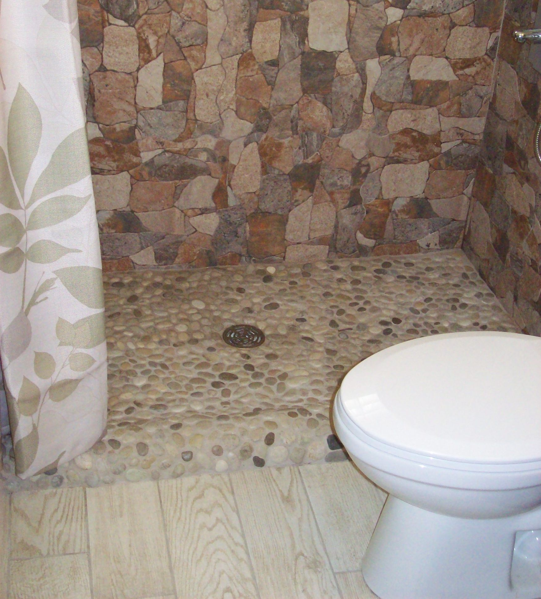 Java tan pebble tile tile shower pan pebble tile shower and java tan pebble tile doublecrazyfo Gallery