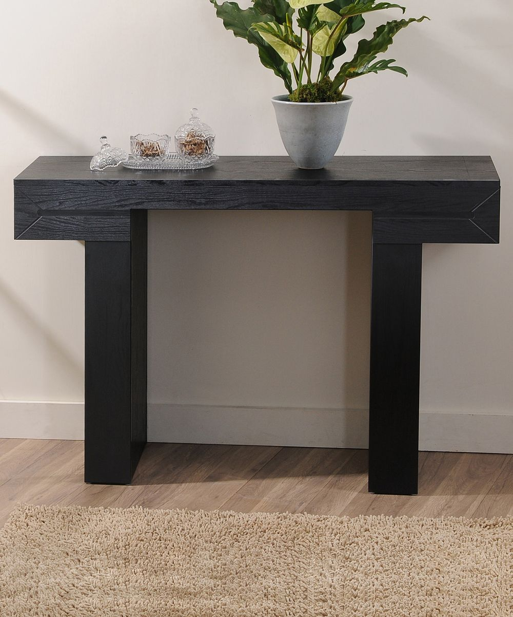 Black Dex Modern Console Table This Contemporary Console Table