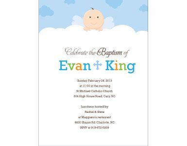Little Angel Baptism Invitation by MindyWindy on Etsy 219