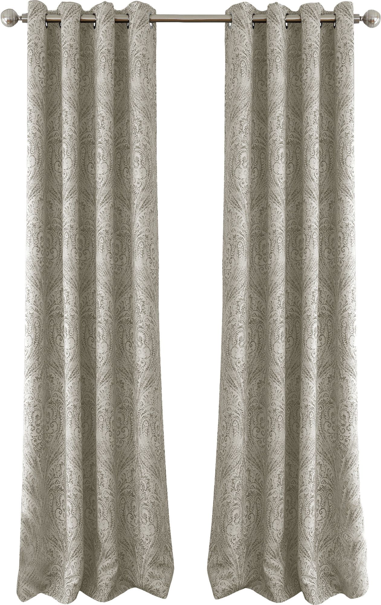 Brielle Paisley Grommet Single Curtain Panel