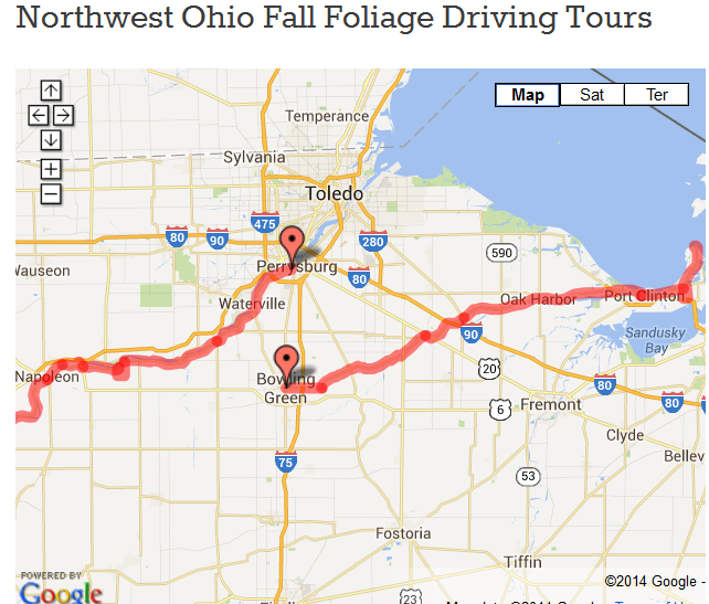 Possible route to take to get the best fall color changes